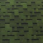 Гибкая (битумная) черепица Футуро линейки Tegola Top Shingle зеленый
