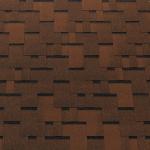 Гибкая (битумная) черепица Футуро линейки Tegola Top Shingle коричневый