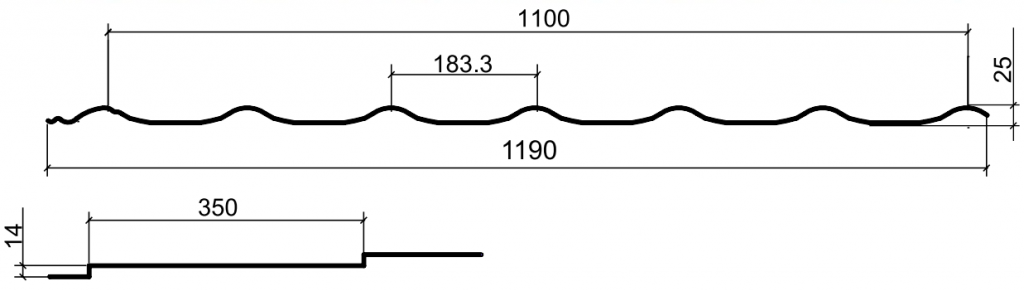 Металлочепепица монтеррей мп размеры
