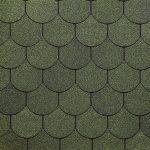 Гибкая, битумная черепица Döcke PIE SIMPLE (Дёке Пай Симпле) коллекции КОЛЬЧУГА зеленая