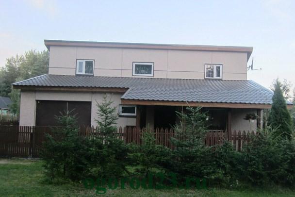 крыша односкатная из металлочерепицы