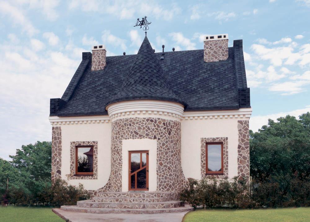 Коническая крыша из гибкой черепицы