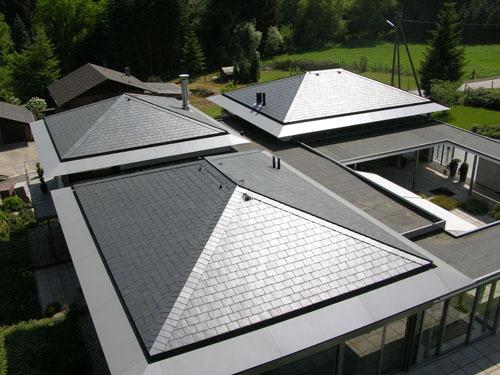 вальмовая сланцевая крыша