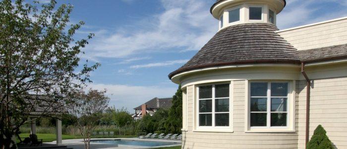 коническая деревянная крыша
