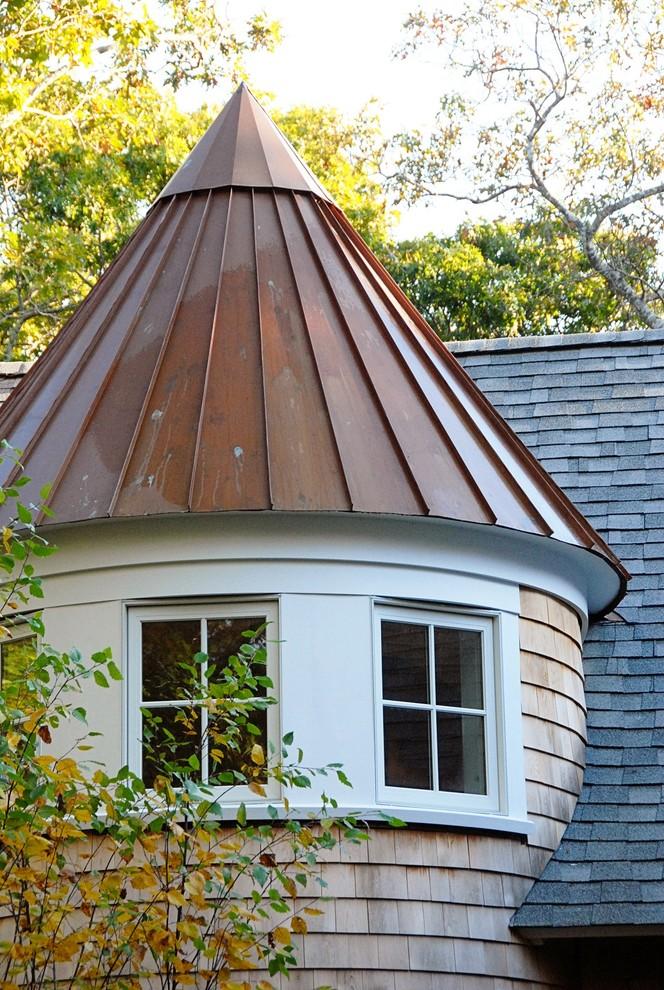 коническая фальцевая крыша