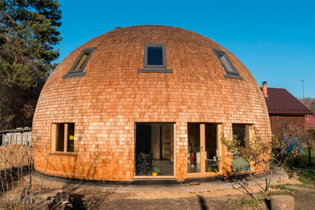 купольная деревянная крыша
