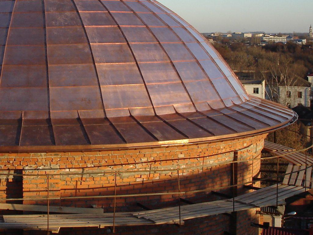 купольная фальцевая крыша