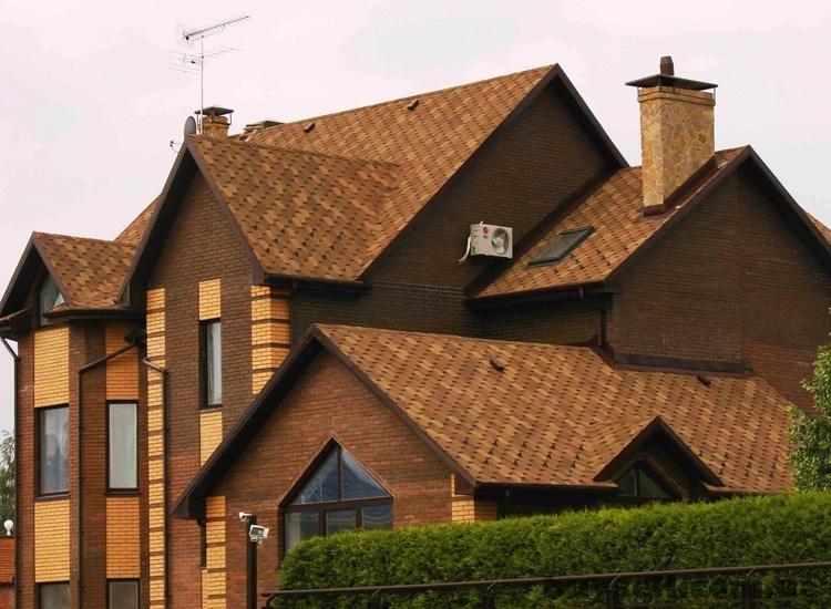 многощипцовая крыша из гибкой черепицы