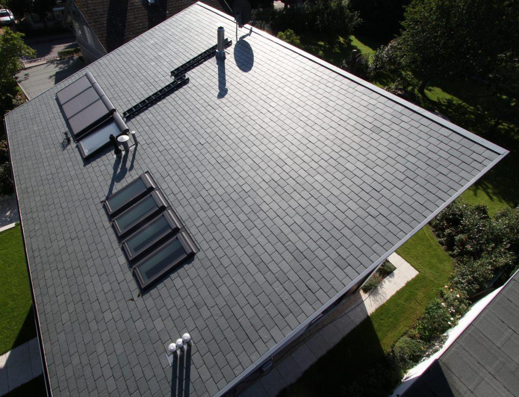 односкатная крыша из сланца