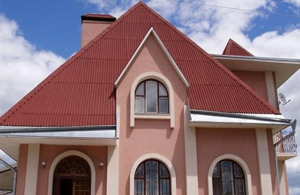шатровая крыша из ондулина