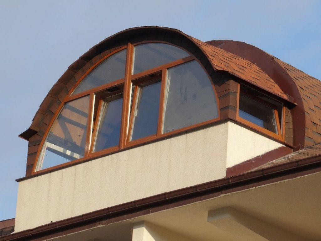 Сводчатая крыша из гибкой черепицы