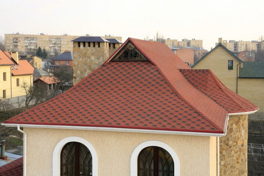 датская крыша из гибкой черепицы