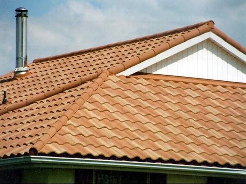 датская крыша из керамической черепицы
