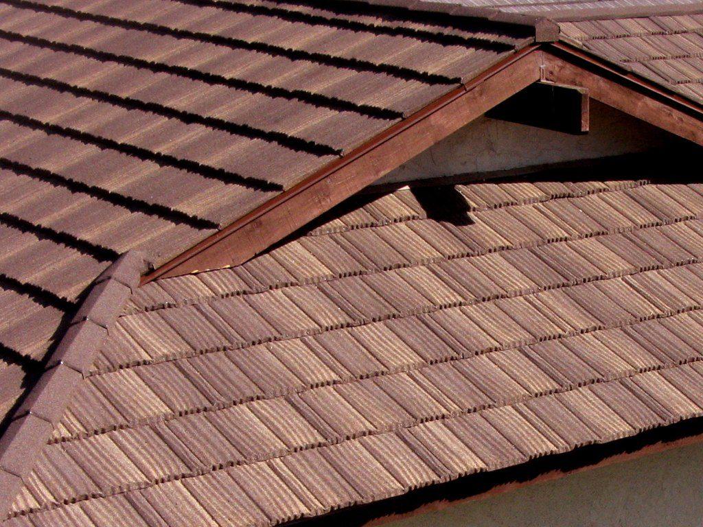 датская крыша из композитной металлочерепицы