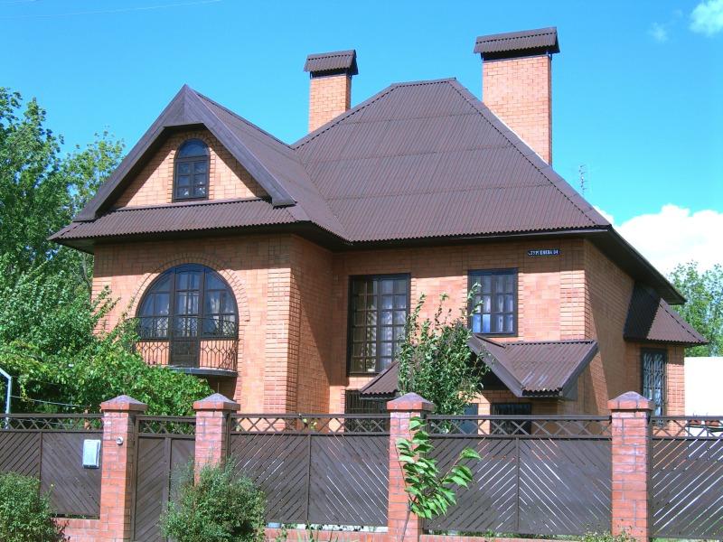 датская крыша из ондулина