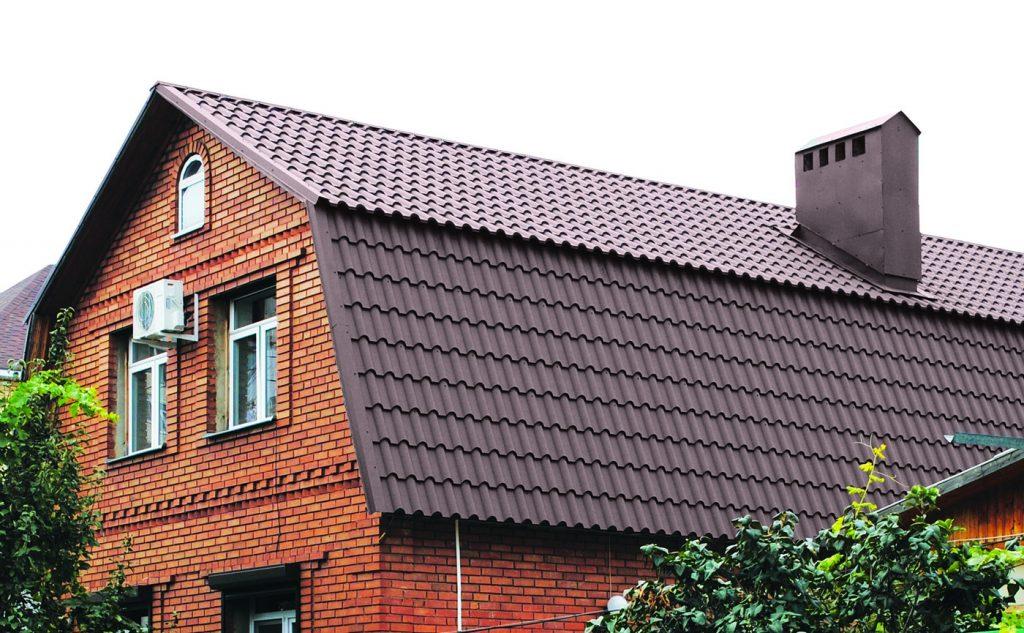 мансардная крыша из металлочерепицы