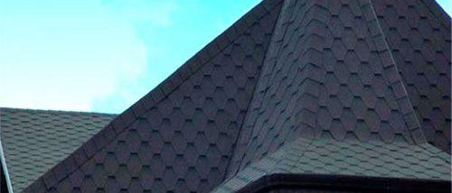 пирамидальная крыша шпиц из гибкой черепицы