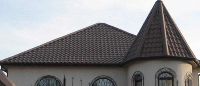 пирамидальная крыша шпиц из цементно-песчаной черепицы