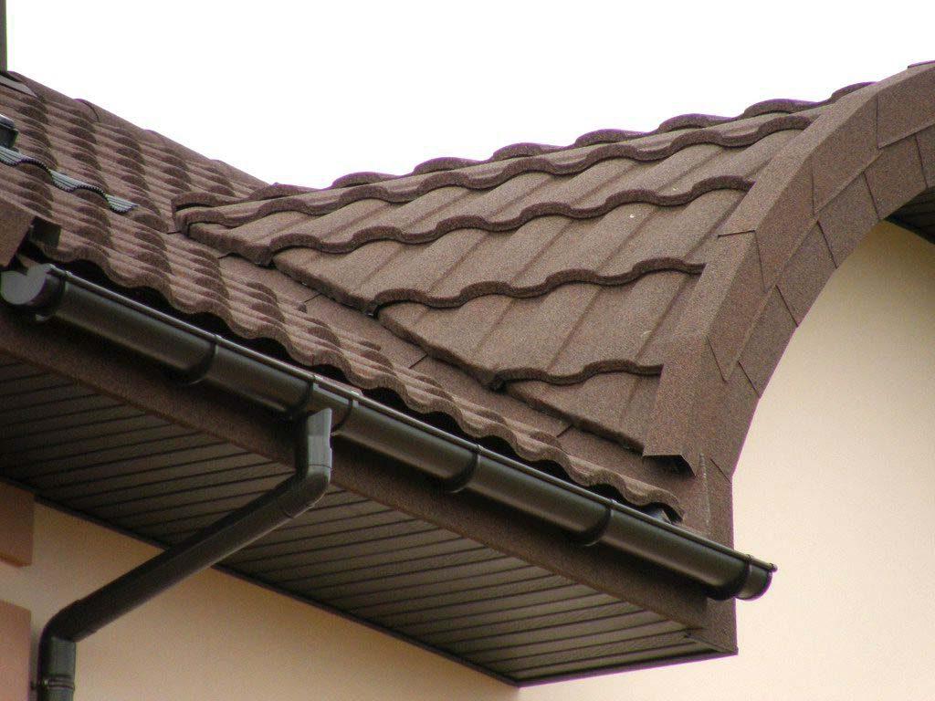 сводчатая крыша из композитной черепицы