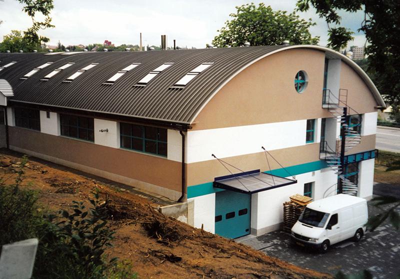 сводчатая крыша из профлиста