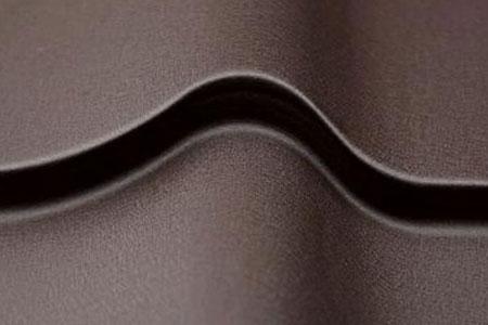 металлочерепица grand line classic стальной бархат