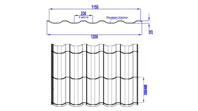 Картинки по запросу металлочерепица  ТРАМОНТАНА характеристики