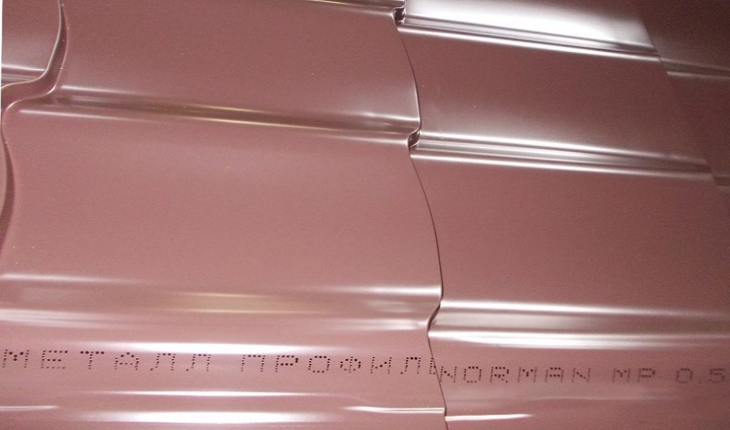 Металлочерепица NORMAN MP маркировка